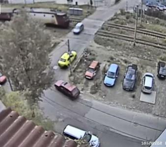 Accident la barieră (Iaşi, 26.07.2015)