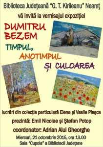 Afis 10_21_2015 Expozitie Dumitru Bezem