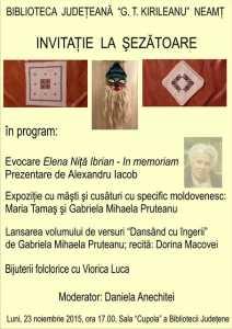 Afis 11_23_2015 Evocare Elena Nita Ibrian