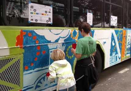bus pictat