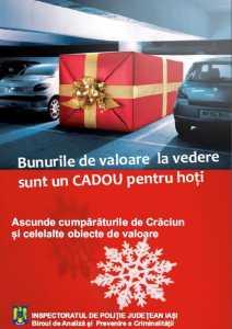 iasi afis prevenire furt masini