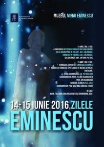 Afis Zilele Eminescu 14-15 iunie 2016