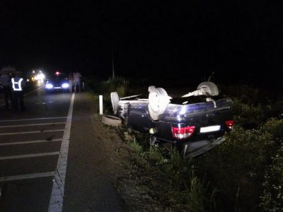 accident masina rasturnata noaptea 01