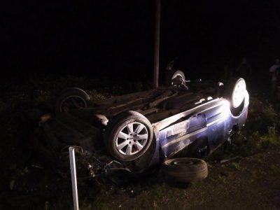 accident masina rasturnata noaptea 02